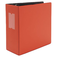 Universal UNV20716 Red Non-View Binder with 5 inch Slant Rings and Spine Label Holder