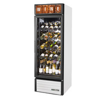 True GDM-23W-HC~TSL01 White Glass Door Refrigerated Wine Merchandiser