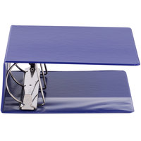 Universal UNV20710 Royal Blue Non-View Binder with 5 inch Slant Rings and Spine Label Holder