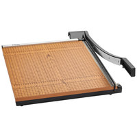 X-Acto 26618MR 18 inch Square 15 Sheet Commercial Guillotine Paper Trimmer with Wood Base