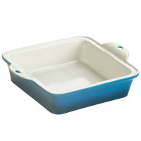 Lodge STW8SQ33 8 inch x 8 inch Square Blue Stoneware Baking Dish