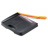 Fiskars 01005452 Recycled Bypass 12 5/16 inch x 21 5/16 inch 10 Sheet Guillotine Paper Trimmer