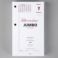 Brownline C2R 6 inch x 3 1/2 inch Daily January 2020 - December 2020 Calendar Pad Refill