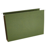 Universal UNV14152 14 inch x 8 1/2 inch Standard Green Hanging Tabless File Folder with 2 inch Box Bottom, Legal - 25/Box