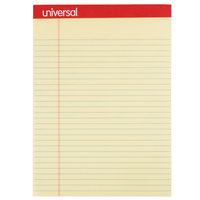 Universal UNV10630 Legal Ruled Canary Perforated Edge Writing Pad, Letter - 12/Pack