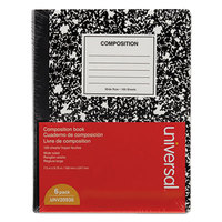Universal UNV20946 9 3/4 inch 7 1/2 inch Black College Ruled Composition Notebook - 6/Pack