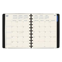 Filofax C1811001 8 1/2 inch x 10 3/4 inch Black 2018 - 2019 Monthly Planner