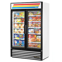 True GDM-43F~TSL01 White Glass Swing Door Merchandiser Freezer with LED Lighting - 40.6 Cu. Ft.