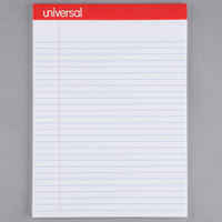 Universal UNV20630 Legal Ruled White Perforated Edge Writing Pad, Letter - 12/Pack