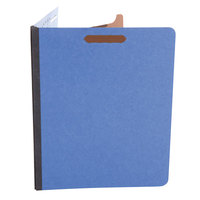 Universal UNV10201 Letter Size Classification Folder - 4-Section with 2/5 Cut Right of Center Tab, Cobalt Blue - 10/Box