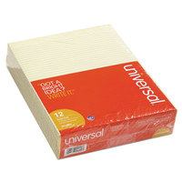 Universal UNV42000 Narrow Rule Canary Glue Top Writing Pad, Letter   - 12/Pack