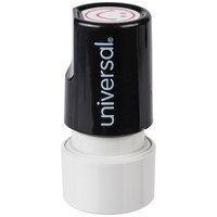 Universal UNV10080 3/4 inch Round Red Pre-Inked Smile Face Stamp