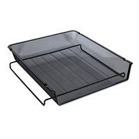 Universal UNV20004 13 inch x 10 3/4 inch x 2 3/4 inch Black Front Load Stackable Mesh Tray, Letter