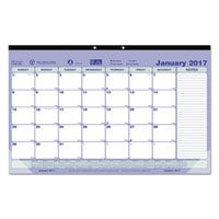 Brownline C181700 17 3/4 inch x 10 7/8 inch Monthly January 2019 - December 2019 Desk Pad Calendar