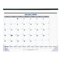 Blueline C177847 22 inch x 17 inch Monthly January 2019 - December 2019 Net Zero Carbon Desk Pad Calendar
