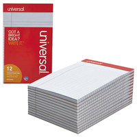 Universal UNV35854 5 inch x 8 inch Narrow Rule Orchid Perforated Note Pad - 12/Pack