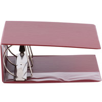 Universal UNV20709 Burgundy Non-View Binder with 5 inch Slant Rings and Spine Label Holder