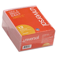 Universal UNV48023 4 1/2 inch x 5 1/2 inch Pink Important Message Pad 50 Sheets - 12/Pack