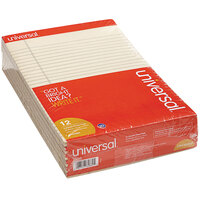 Universal UNV35882 Legal Rule Ivory Perforated Note Pad, Letter - 12/Pack