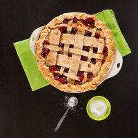 Lodge STW9R43 9 1/2 inch x 2 1/4 inch Red Stoneware Baking Dish / Pie Pan