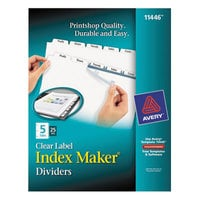 Avery 11446 Index Maker 5-Tab Divider Set with Clear Label Strip - 25/Box