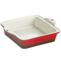 Lodge STW8SQ43 8 inch x 8 inch Square Red Stoneware Baking Dish