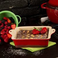Lodge STW8SQ43 8 inch x 8 inch Square Red Stoneware Baking Dish