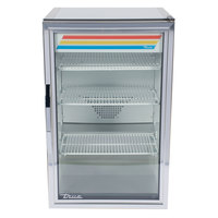 True GDM-7-S-HC~TSL01 Stainless Steel Countertop Display Refrigerator with Swing Door - 7 cu. ft.