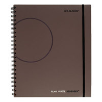 At-A-Glance 80620430 8 3/8 inch x 11 inch Gray Two Day Per Page Planning Notebook
