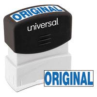 Universal UNV10060 1 11/16 inch x 9/16 inch Blue Pre-Inked Original Message Stamp