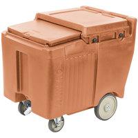 Cambro ICS125LB157 SlidingLid™ Coffee Beige Portable Ice Bin - 125 lb. Capacity