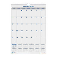 Blueline C171303 17 inch x 12 inch Monthly January 2019 - December 2019 Net Zero Carbon Wall Calendar