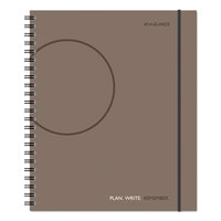 At-A-Glance 70620930 8 9/16 inch x 11 inch Gray Planning Notebook with Reference Calendars