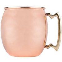20 oz. Moscow Mule Mug with Smooth Copper Finish and Brass Handle - 4/Pack