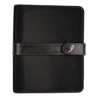 Day-Timer 48391 5 1/2 inch x 8 1/2 inch Pink Ribbon Loose-Leaf Organizer Set with Black Microfiber Cover
