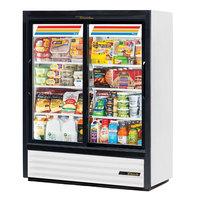 True GDM-41SL-60-HC-LD 48 inch White Sliding Glass Door Refrigerated Merchandiser
