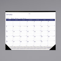Blueline C177227 DuraGlobe 22 inch x 17 inch Monthly January 2020 - December 2020 Desk Pad Calendar