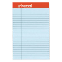 Universal UNV35890 5 inch x 8 inch Legal Rule Blue Perforated Note Pad - 6/Pack