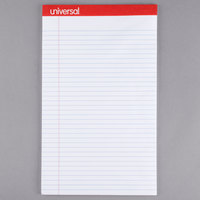 Universal UNV45000 Legal Rule White Perforated Edge Writing Pad, Legal - 12/Pack