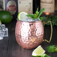 American Metalcraft CM16H 16 oz. Copper Moscow Mule Mug with Hammered Finish