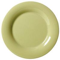 GET WP-6-AV Avocado Diamond Harvest 6 1/2 inch Wide Rim Plate - 48/Case