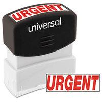 Universal UNV10070 1 11/16 inch x 9/16 inch Red Pre-Inked Urgent Message Stamp