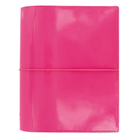 Filofax C022482 5 3/4 inch x 8 1/4 inch Pink 2017 Domino Patent Organizer with 2 Page Planner