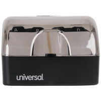 Universal UNV10600 4 inch x 5 3/4 inch x 2 3/4 inch Black Push-Button Business Card File