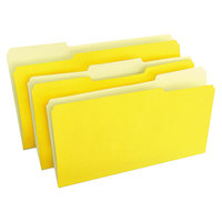 Universal UNV10524 Legal Size File Folder - Standard Height with 1/3 Cut Assorted Tab, Yellow - 100/Box