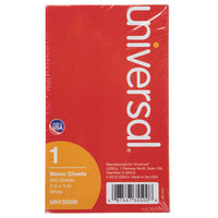 Universal UNV35500 3 inch x 5 inch White Loose Memo Sheet - 500/Pack