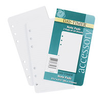 Day-Timer 87128 6 3/4 inch x 3 3/4 inch Pack of Narrow Rule Loose-Leaf Lined Refill Sheet - 48 Sheets