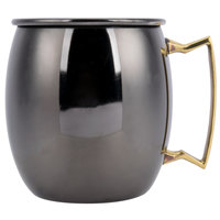 American Metalcraft BM16P 16 oz. Black Moscow Mule Mug with Mirror Finish