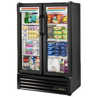 True GDM-36SL-HC-LD 36 inch Black Slim Line Glass Door Refrigerated Merchandiser