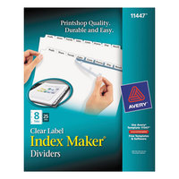 Avery 11447 Index Maker 8-Tab Extra-Wide Dividers with Clear Label Strips - 25/Box
